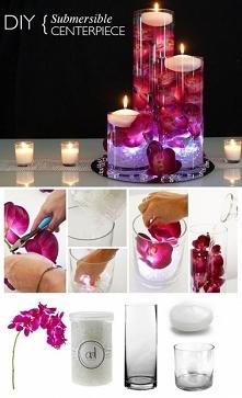 Piękna dekoracja na stoły weselne lub do Twojego mieszkania! Zrobisz to sama ;)