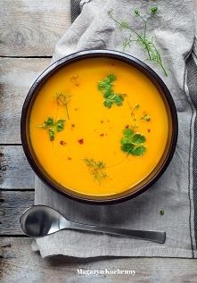Pyszna zupa z pieczonej mar...