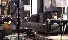 Sofa w stylu glamour 3-osobowa Ancona