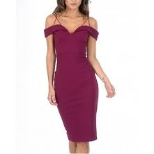 Fioletowa ołówkowa sukienka...