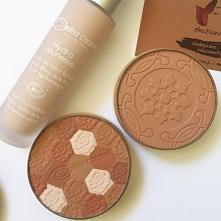 puder, bronzer i podkład couleur caramel - naturalne zdrowe kosmetyki