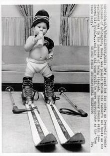 Born to ski :D