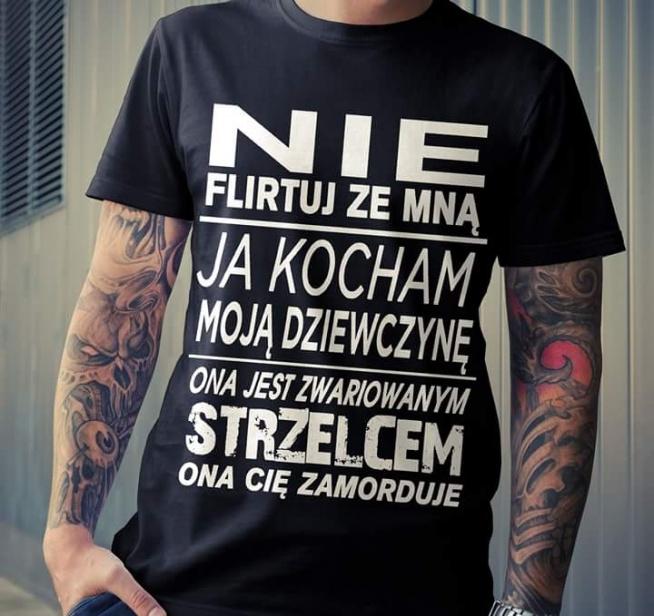 Są tu dziewczyny z grudnia bądź listopada? Idealna koszulka dla naszych mężczyzn, nieprawdaż? **STRZELEC**
