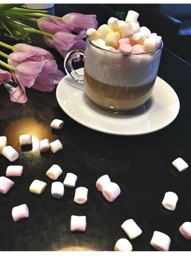 kawa z piankami mniami ❤