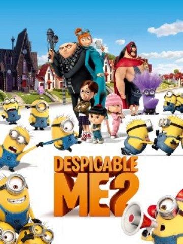 Minionki rozrabiają / Despicable Me 2 (2013)  Tajemniczy złoczyńca zamienia słodkie Minionki w paskudne potwory, które pożerają wszystko, co stanie im na drodze. Gru musi je uratować. Ta i wiele innych bajek i filmów u nas: allbox.tv