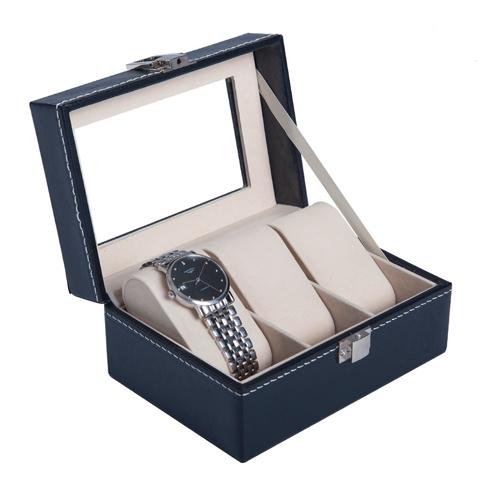 Pomysł na prezent dla Niego  Kasetka na męską biżuterię i zegarki, praktyczna a jednocześnie z klasą.