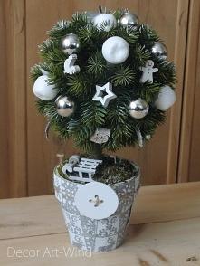 Zimowe drzewko wys. 30 cm c...
