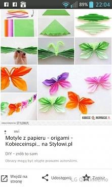 origami, motyle