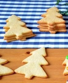 Bardzo pyszne Maślane ciasteczka  SKŁADNIKI: 200 g masła 1/2 szkl. cukru pudru 2 szkl. mąki 1/2 łyżeczki soli 1/2 łyżeczki proszku do pieczenia WYKOANANIE: Miękkie masło utrzeć ...