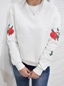 Bluza RICAMO haft biała. Ottanta - sklep online