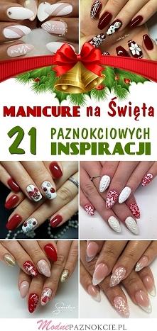 Manicure na Święta: 21 Pazurkowych Inspiracji, Które Robią Wrażenie