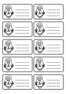 wzór na karteczki na prezenty