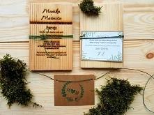 drewniane zaproszenia na ślub i wesele