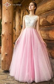Magiczna, długa suknia z ko...