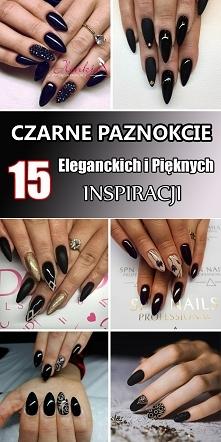 Top 15 Eleganckich i Pięknych Inspiracji na Czarne Paznokcie [GALERIA]