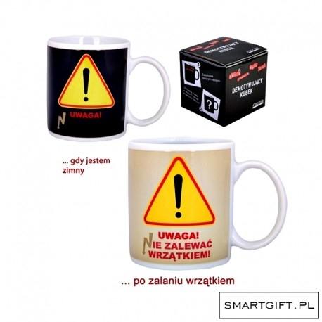 Kubek Uwaga DEMOTYWATORY  Doskonały Prezent -> SmartGift.pl - Sklep z Gadżetami i Prezentami -> Kliknij w Zdjęcie :)
