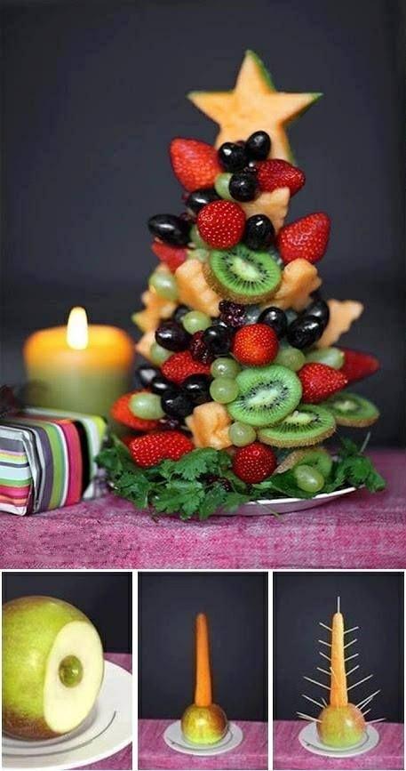 pomysł na zdrową i smaczną choinkę; )