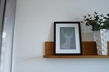 Brokatowy jeleń - plakat DIY