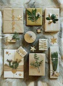 Ładnie, prosto i niedrogo zapakowane prezenty.