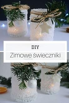 DIY Zimowe świeczniki - lod...