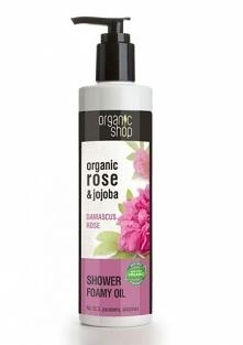 Pieniący się olejek pod prysznic Róża Damasceńska Organic Shop Pieniący się olejek pod prysznic Róża Damasceńska przeznaczony do codziennej pielęgnacji skóry całego ciała. Stwor...