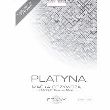 CONNY MASKA PLATYNA ODŻYWCZA  Conny maska Platyna zawiera platynę oraz naturalne składniki nawilżające i odżywcze, które wnikają w głąb skóry. Działa odmładzająco na zmęczoną ce...