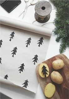Pamiętacie stempelki z ziemniaka? To fajny pomysł na przyozdobienie papieru d...