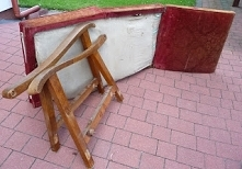 odnawianie starego fotela d...