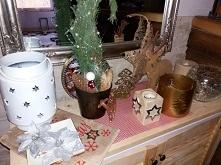 świąteczna dekoracja komody...