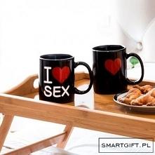 Kubek I love Sex - Napis Pojawia Się po Zalaniu Wrzątkiem Doskonały Prezent -> SmartGift.pl - Sklep z Gadżetami i Prezentami -> Kliknij w Zdjęcie :)