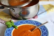 Zupa-krem z pomidorów z bazylią i nutką białego wina :)
