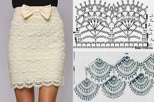 crochet shell skirt
