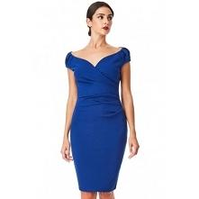 Kobaltowa ołówkowa sukienka...