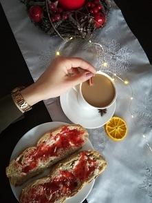 W świątecznym klimacie, kaw...