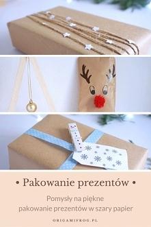 Piękne pakowanie prezentów w szary papier • Świąteczne inspiracje • origamifr...