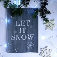 Zimowe plakaty do druku :)