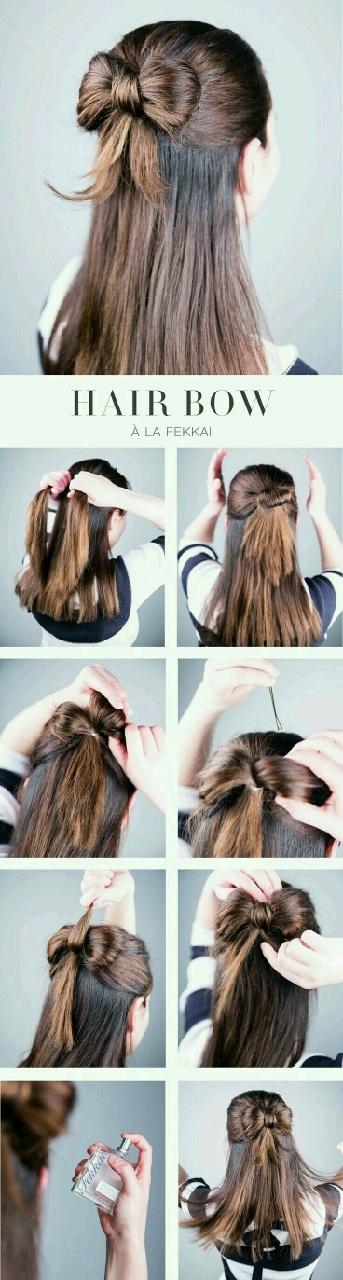Jak szybko stworzyć efektowną kokardkę z włosów.