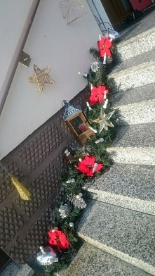 Schody świątecznie