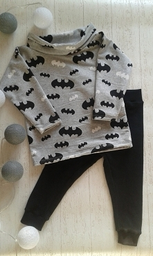 Batmanowy komplet dla chłopca :) - Handmade by brzostula