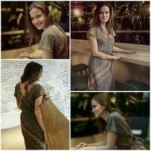Sukienka ze zwiewnej tkanin...