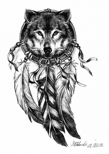 wilk.. niezły na tatuaż