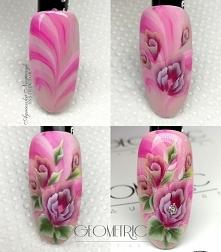Piękne kwiaty w odcieniach słodkiego różu i fioletu dla miłośniczek delikatnych wzorów ;)