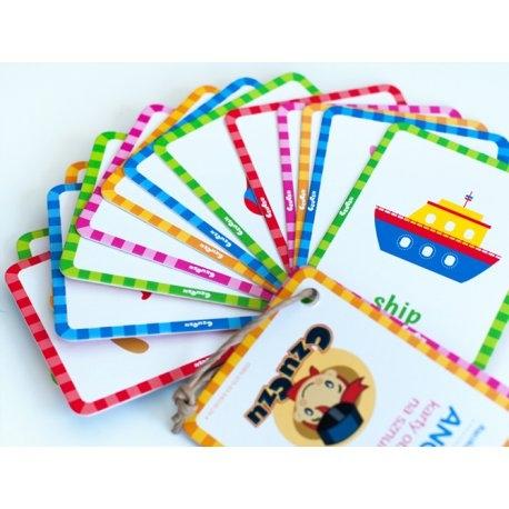 Wtorek z Czuczu:)  Nauka języka angielskiego już dla 2 latków z 16 dwustronnymi kartami obrazkowymi.   Karty są poręczne, i na sznureczku, tak więc można je ze sobą wygodnie zabrać w podróż.   Podobno im wcześniej, tym lepiej:)