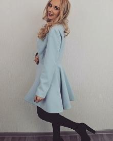 Rozkloszowany Płaszcz Baby Blue 120zł Produkt Polski