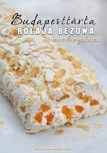 Ależ to jest pyszne! Budapesttårta - Rolada bezowa z mandarynkami przepis zna...