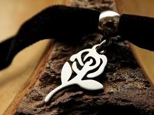 ► Choker - Róża - Stal szla...