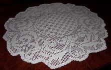 serweta szydełkowa biała