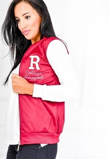 Bluza typu college rozpinana literka R >> Sukienki.shop