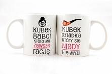 Komplet kubków dla babci i dziadka, do kupienia w naszym sklepie: nadruko.pl
