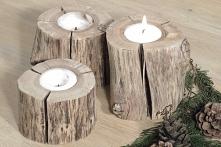 Wyjątkowe świeczniki dębowe z dużą ilością sęków i pęknięć nadadzą charakteru...